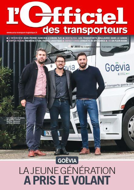 Goëvia fait la Une de L'officiel des Transporteurs !